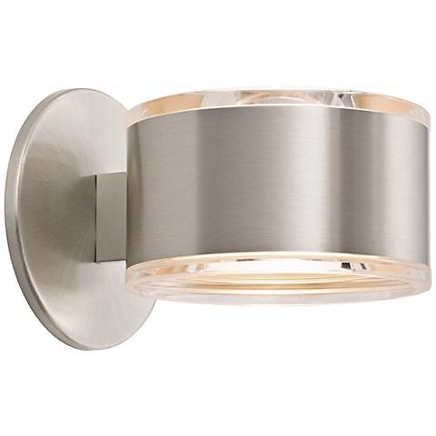 "Holtkoetter Up-Down 5 1/4"" Wide Satin Nickel Wall Sconce"
