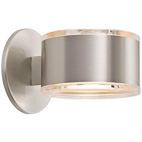 """Holtkoetter Up-Down 5 1/4"""" Wide Satin Nickel Wall Sconce"""