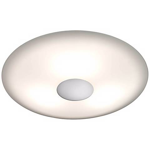"Holtkoetter Opalika 12 1/2"" Wide Nickel Ceiling Light"