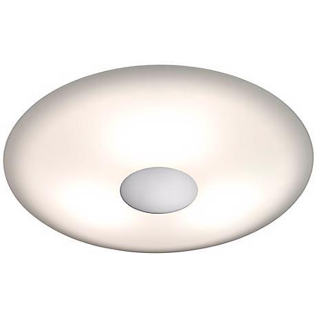 """Holtkoetter Opalika 12 1/2"""" Wide Nickel Ceiling Light"""