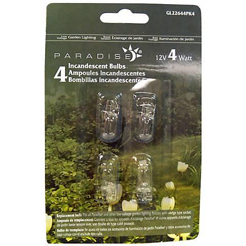 Wedge Pack of 4 12-Volt 4 Watt Light Bulbs