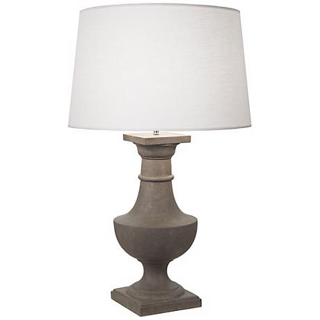Robert Abbey Bronte Faux Limestone Oyster Shade Table Lamp