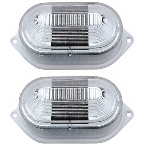 Set of 2 Multipurpose Battery Powered Solar LED Lights