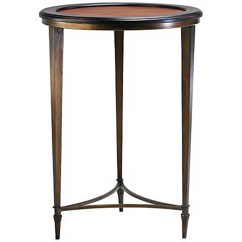 """Ebony and Mahogany 28 1/2"""" High Paloma Side Table"""
