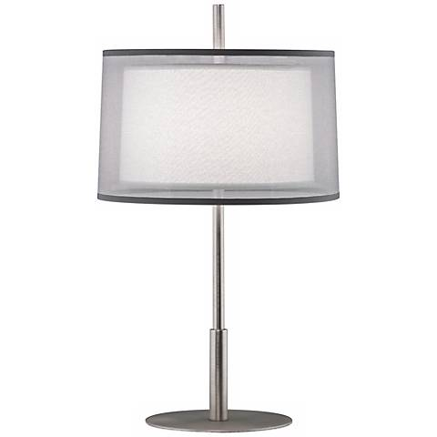 "Robert Abbey Saturnia Steel 22 3/4"" High Table Lamp"