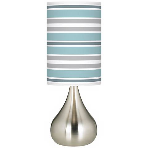 Multi Color Stripes Giclee Big Droplet Table Lamp