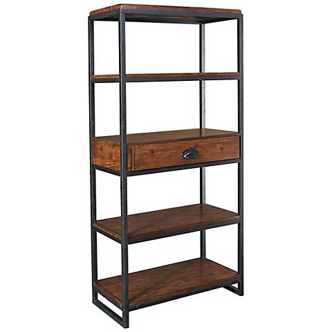"Hammary Baja Distressed Finish 65"" High Etagere"