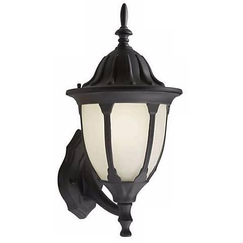 "Black 18 1/2"" High Outdoor Lantern Wall Light"