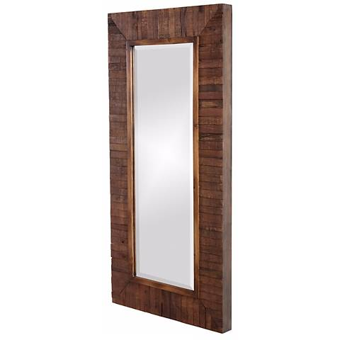 "Timberlane Faux Walnut Stained 48"" High Wall Mirror"