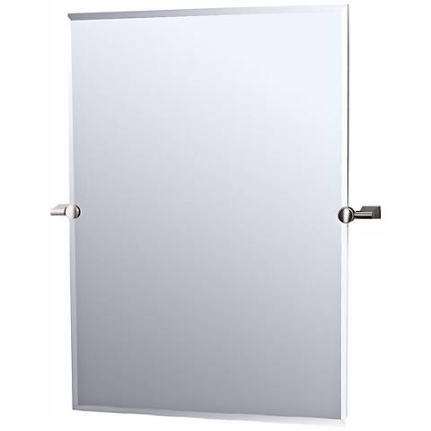 "Gatco Satin Nickel Bleu 32"" High Tilting Wall Mirror"