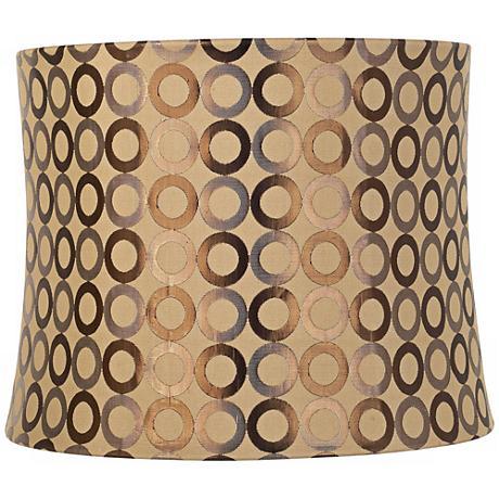 Copper Circles Drum Lamp Shade 13x14x11 (Spider)
