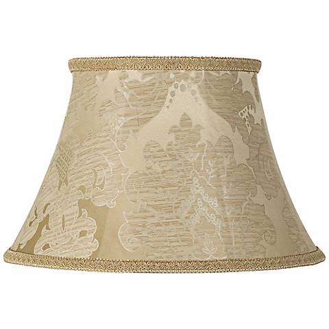 Ivory Brocade Lamp Shade 10x17x11 (Spider)