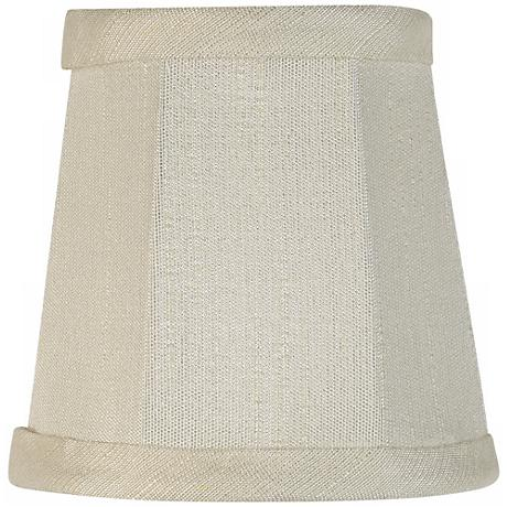 Imperial Collection Creme Fabric Lamp Shade 3x4x4 (Clip-On)