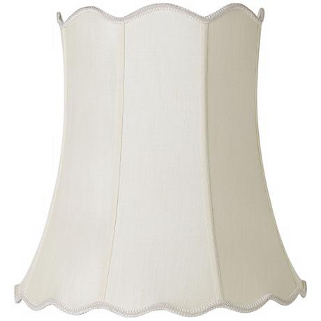 Imperial Creme Scallop Bell Lamp Shade 14x20x20 (Spider)
