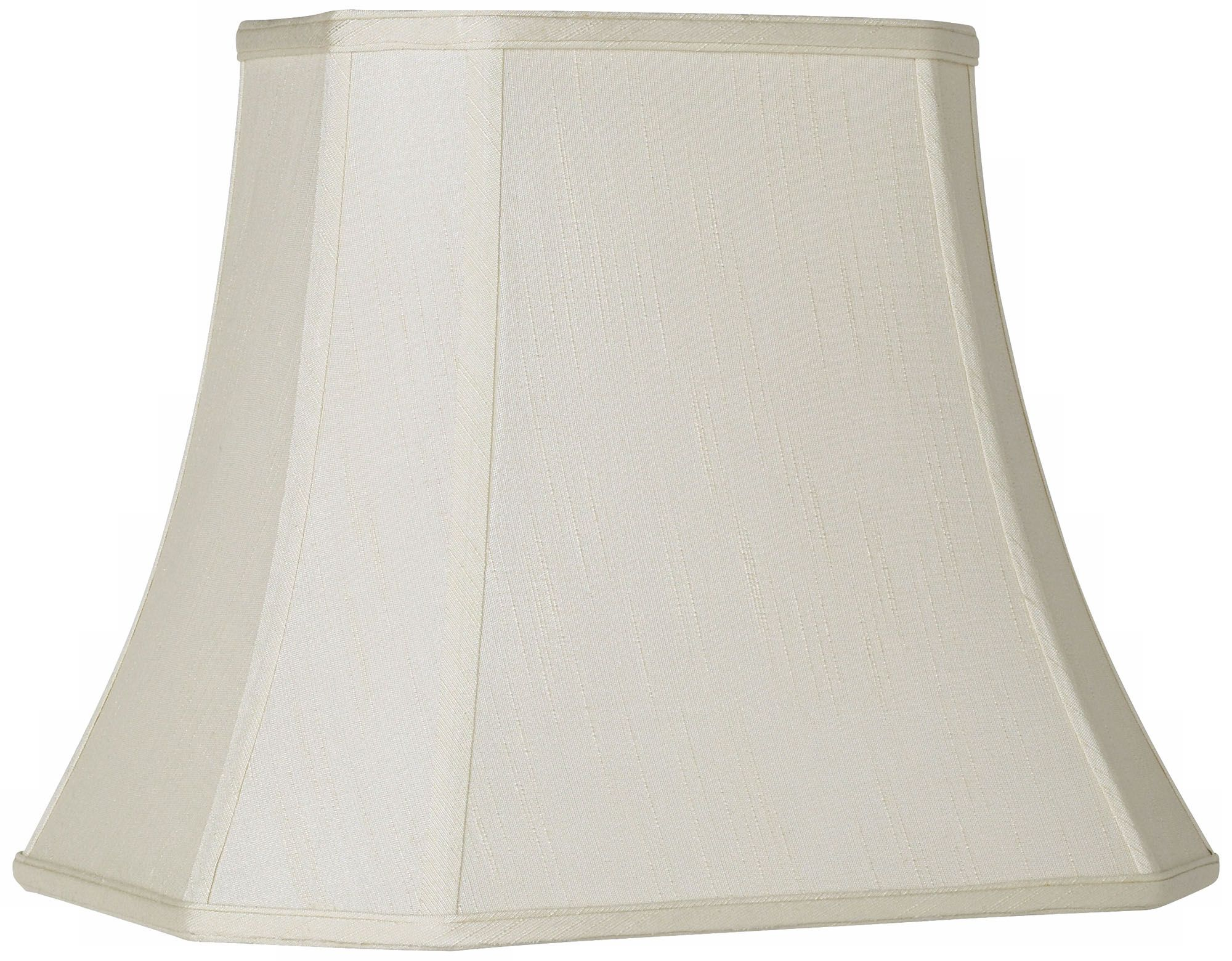 imperial creme rectangle cut corner shade 10x16x13 spider - Rectangular Lamp Shades