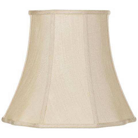 Imperial Taupe Bell Lamp Shade 10x16x14 (Spider)