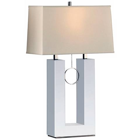 Nova Earring Reclining White Table Lamp