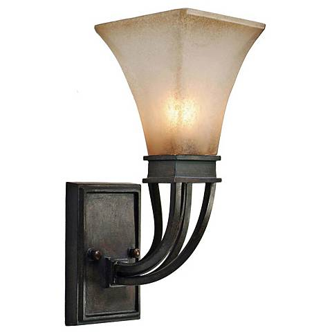 "Pasianno Collection Roan Timber 14 1/2"" High Wall Sconce"