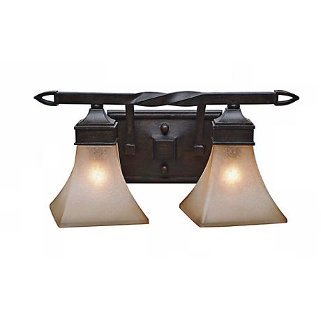 """Pasianno Roan Timber Finish 17 3/4"""" Wide Bathroom Wall Light"""