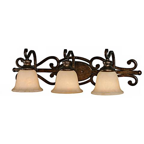 Heartwood Collection Three Light Bathroom Wall Light