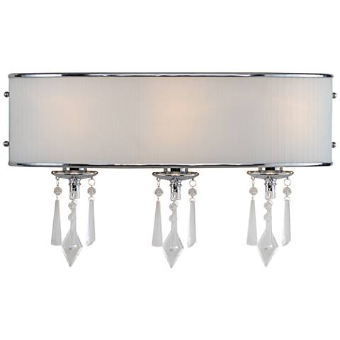 "Echelon 22"" Wide 3-Light Chrome Bath Light"