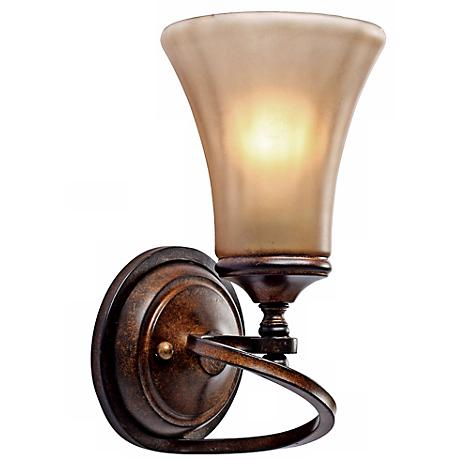 """Loretto Collection Russet Bronze 11 1/4"""" High Wall Sconce"""