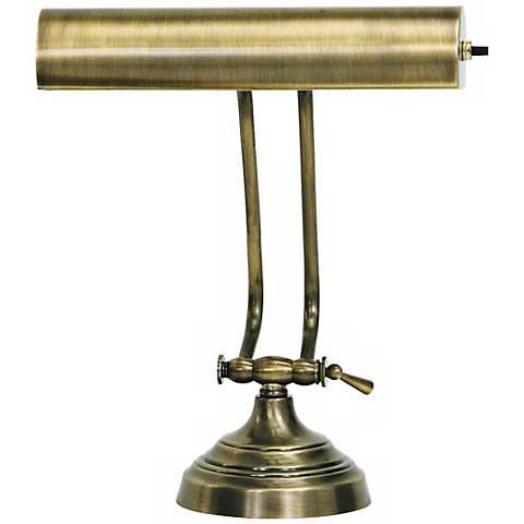 House of Troy Advent Twin Arm Antique Brass Piano Desk Lamp - House Of Troy Advent Twin Arm Antique Brass Piano Desk Lamp