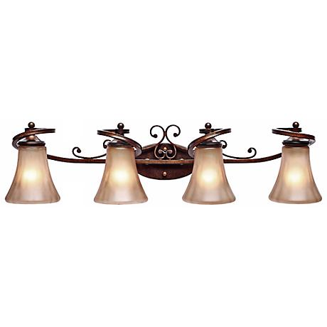 """Loretto Collection 34"""" Wide Bathroom Wall Light"""