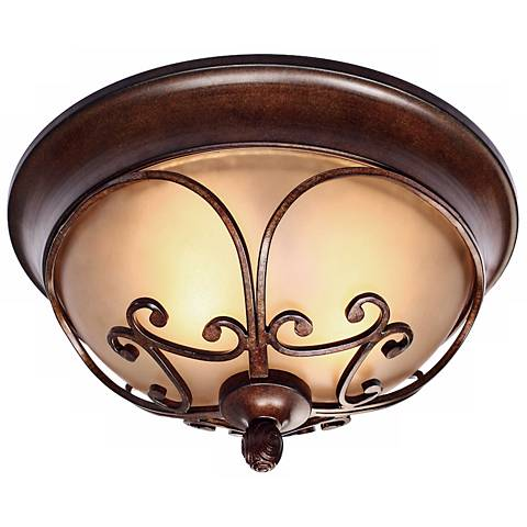 """Loretto Collection Russet Bronze 14 1/2"""" Wide Ceiling Light"""