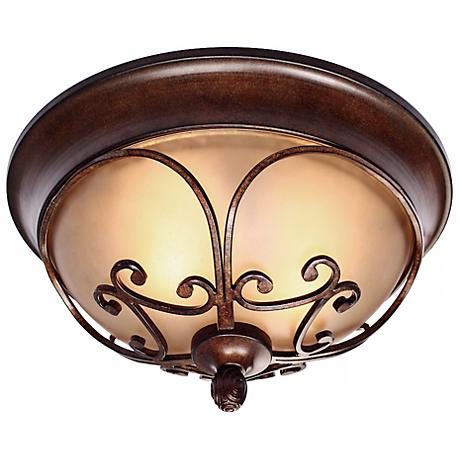 "Loretto Collection Russet Bronze 14 1/2"" Wide Ceiling Light"