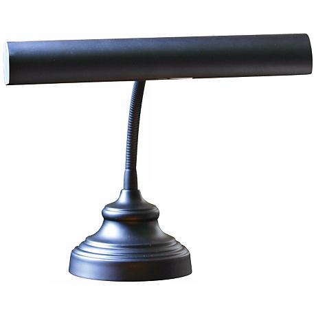 "House of Troy Advent 12 1/2"" High Black Piano Lamp"