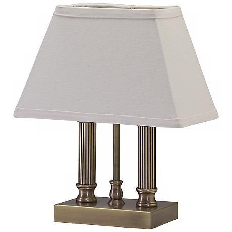 House of Troy Twin Column Antique Brass Desk Lamp
