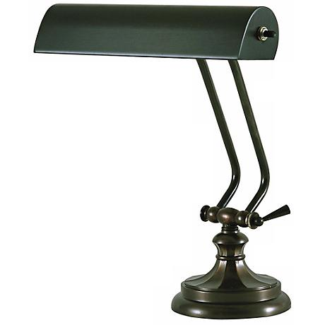 "House of Troy 13"" High Mahogany Bronze Piano Lamp"