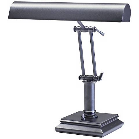 House of Troy Granite Gray Twin Arm Piano Desk Lamp