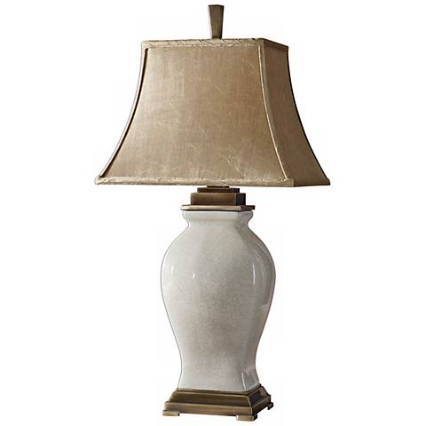 Uttermost Rory Ivory And Coffee Table Lamp R3653 Lamps Plus