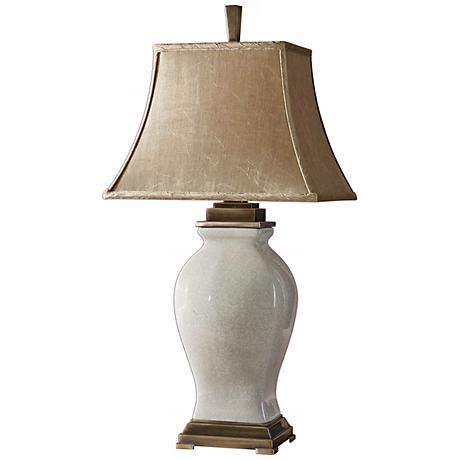 Uttermost Rory Ivory and Coffee Table Lamp
