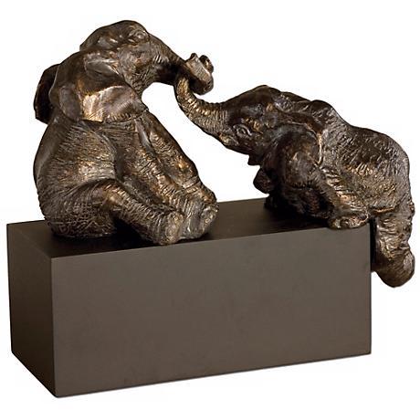 Uttermost Playful Pachyderms Sculpture