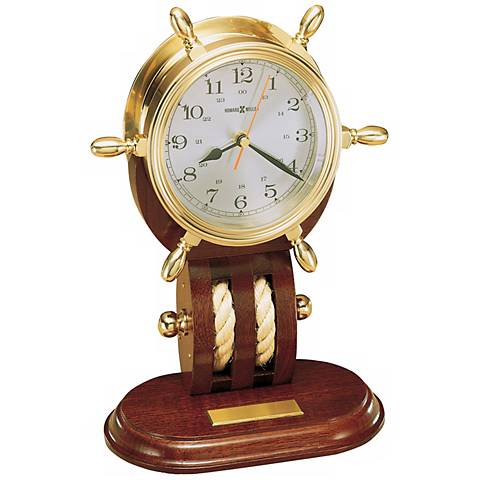 "Howard Miller Brittania 12 1/2"" High Tabletop Clock"