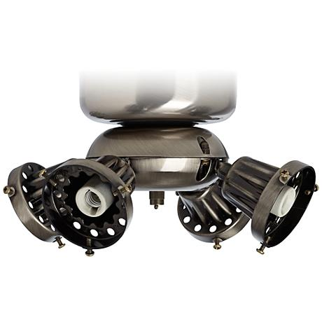 Pewter Pull Chain Universal Ceiling Fan Light Kit