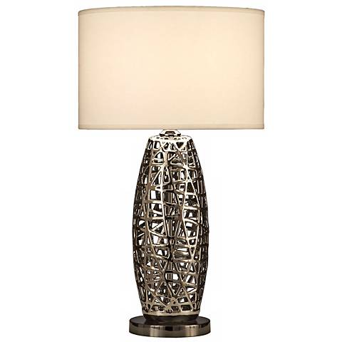 Nova Bird's Nest Oval Table Lamp