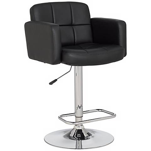 Trek large adjustable height black bar stool r4597 for Most comfortable bar stools