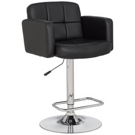 trek large adjustable height black bar stool r4597 lamps plus. Black Bedroom Furniture Sets. Home Design Ideas