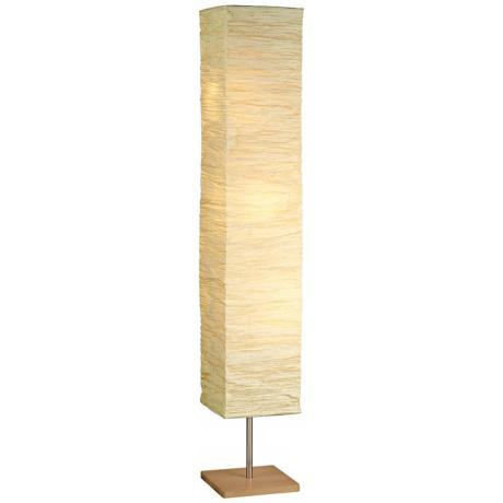 Crinkle paper square floor lamp r4711 lamps plus for Doily paper floor lamp