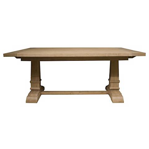 Hudson Stone Wash Finish Extending Dining Table