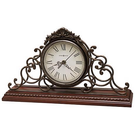 """Howard Millier Adelaide 15 1/2"""" Wide Tabletop Clock"""