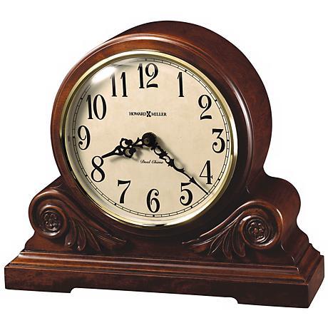 """Howard Miller Desiree 12 1/4"""" Wide Tabletop Clock"""