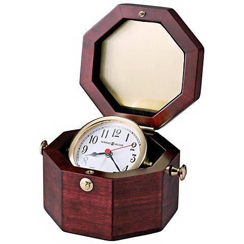"Howard Miller Chronometer 7"" Wide  Alarm Clock"