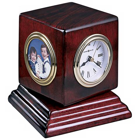 "Howard Miller Reuben 4 3/4"" High Desk Clock"
