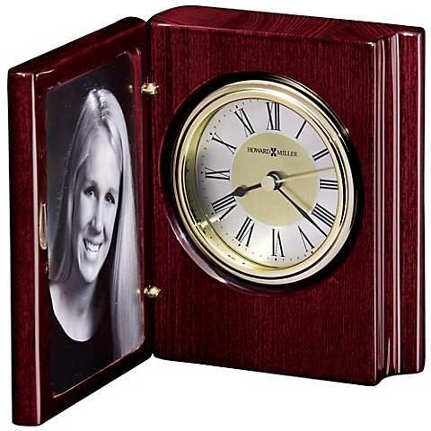 "Howard Miller Portrait Book  5 1/4"" High Desktop Clock"