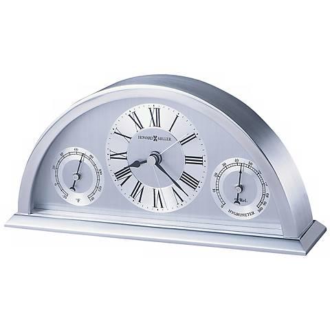 "Howard Miller Weatherton 8"" Wide Weather Station Alarm Clock"